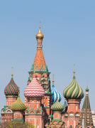 domes of St. Basil's Cathedral - stock photo
