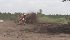 Stock Video Footage of Motocross curve