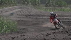 Motorcross Curve - stock footage