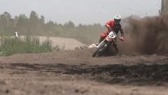 Motocross curve - stock footage