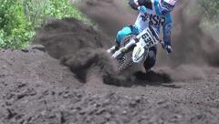 Motocross fall - stock footage