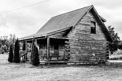 Stock Photo of log house