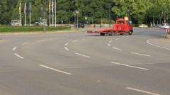 Driving on Grosser Stern in Berlin Stock Footage