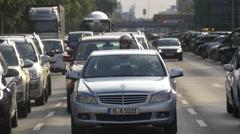 Traffic on Strasse des 17. Juni in Berlin Stock Footage