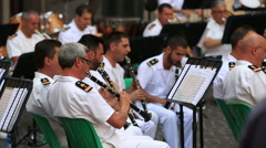 Military Orchestra in Rome Stock Footage
