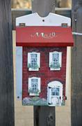 Decorative little mailbox - stock photo