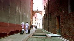 ULTRA HD 4K real time shot,Square of Dante (Signori) in Verona Stock Footage