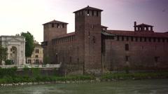 ULTRA HD 4K real time shot,Arco dei Gavi in Verona. Stock Footage