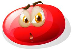 Jelly bean with face Stock Illustration