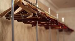 Empty Hangers - stock footage