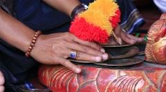 Traditional Balinese cymbal playing. Bali island, Ubud, Indonesia Arkistovideo