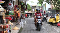 Tourist center with a gift shop Ubud in island Bali, Indonesia Stock Footage