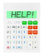 Calculator with HELP - stock photo