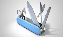 Multipurpose Penknife Stock Illustration
