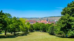 Baroque garden of Bishops Residence in Wurzburg (Germany) Stock Photos
