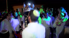 Stock Video Footage of Dancing With A Sefer Tora