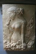 Beautiful Woman Statue Stone Stock Photos