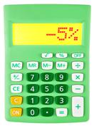 Calculator with -5 on display Stock Photos