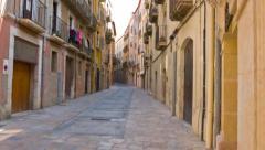 Tarragona old town narrow street 4k, Catalonia, Spain Stock Footage