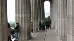 The Walhalla in Bavaria, Germany Stock Footage
