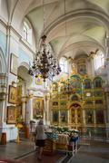 Interior Of Cathedral Of Holy Spirit In Minsk - The Main Orthodo - stock photo