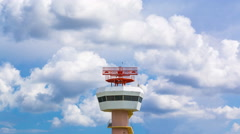 Time Lapse Airport Radar Communications Tower - stock footage