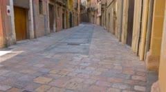 Old town street in Tarragona city, Costa Daurada Spain 4k Stock Footage