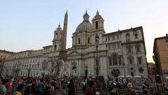 Piazza Navona Stock Footage