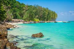 Bamboo Island is one other island in the Andaman Sea near phi-phi islands,Tha - stock photo