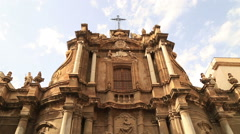 Santa Anna Church at Palermo Sicily cloud time lapse Stock Footage