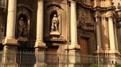 Santa Anna Church at Palermo Sicily Stock Footage