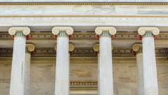 Marble Colored Columns Time Lapse Stock Footage