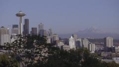 Seattle Sky Line - Day Stock Footage
