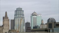 Kansas City Skyline - stock footage