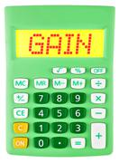 Calculator with GAIN on display - stock photo