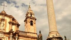 Chiesa di S. Domenica Palermo 3 Stock Footage