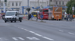 Driving on Schlossplatz, Berlin Stock Footage