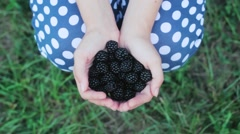 The Girl is Holding blackberry . - stock footage
