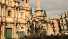 Chiesa di S. Domenica Palermo tilt shoot Stock Footage