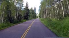 Colorado Mountain Drive - stock footage