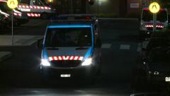 Hospital Emergency Department Ambulance departs Stock Footage