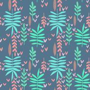 Seamless nature background - stock illustration