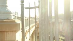 View From Colorado Street Bridge Pasadena - stock footage
