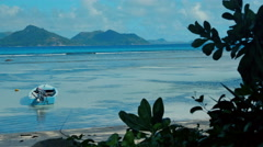 Exotic dream - Beach on island La Digue in Seychelles. Stock Footage