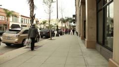 Colorado Blvd, Pasadena, California Stock Footage