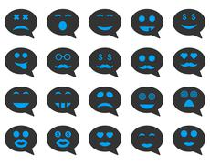 Stock Illustration of Chat emotion smile icons