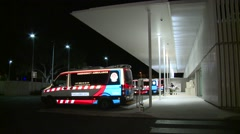 EMS at Hospital Emergency Department Stock Footage