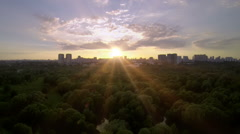 Park sunset - stock footage