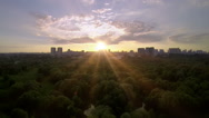 Stock Video Footage of Park sunset