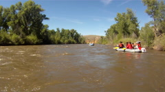 White water rafting on Gunnison river 2 Stock Footage